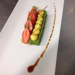 financier pistacher fraise de La Baule et Crème citron