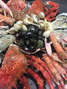 Les araignées du Croisic , une spécialité péchées au Croisic à déguster à L'Estacade restaurant qui propose des fruits de mer sur le port du Croisic