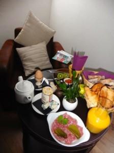 Petit déjeuné servit en chambre l'estacade le Croisic