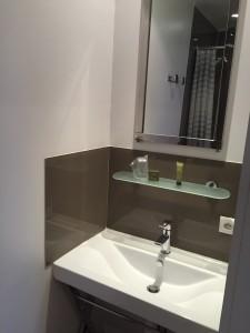 salle de bain chambre single hôtel l'estacade le croisic